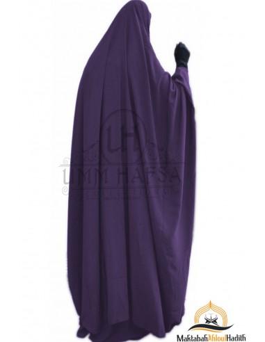 Jilbab à zip Umm Hafsa - Aubergine