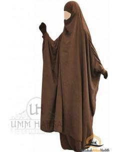 """Jilbab à zip """"jupe"""" Umm Hafsa - Cannelle"""