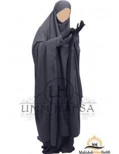 "Jilbab à zip ""jupe"" Umm Hafsa  - Gris"