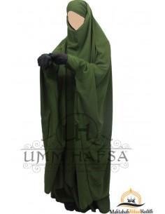"Jilbab à zip ""jupe"" Umm Hafsa - Kaki"