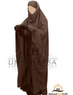 "jilbab zip ""Skirt"" Umm Hafsa - Brown"