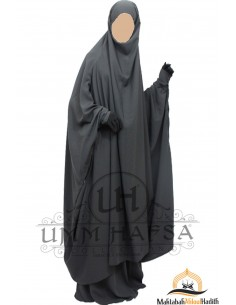 "jilbab zip ""Skirt"" Umm Hafsa - Black"