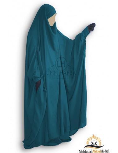 Jilbeb à zip Umm Hafsa - Vert Canard