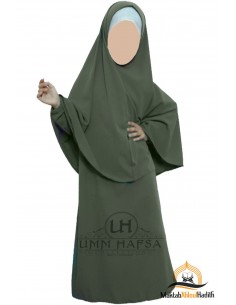 Abaya / girl hijab set - Green