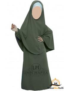 Abaya Hijab fille Umm hafsa - Kaki