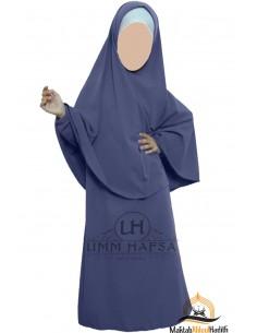 Abaya Hijab fille Umm hafsa - bleu