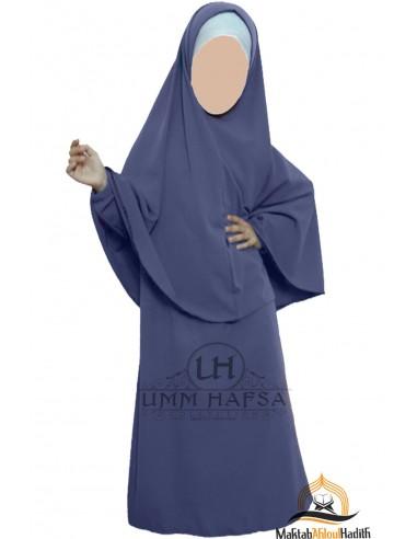 Abaya Hijab girl Umm hafsa - blue