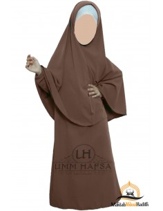 Abaya Hijab girl Umm hafsa - Brown