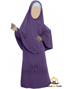 Abaya Hijab fille Umm hafsa - Aubergine