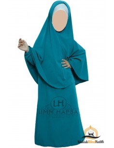Abaya Hijab Mädchen Umm hafsa - Türkis