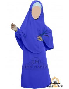 Abaya Hijab girl Umm hafsa - electric blue