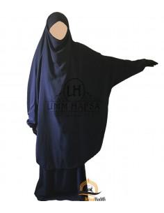 "Jilbab 2 pieces Classique ""jupe"" Umm Hafsa - Bleu marine"