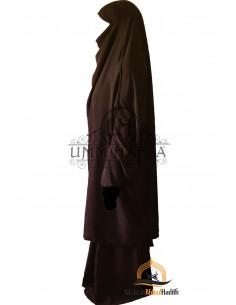 "Jilbab 2 pieces Classique ""jupe"" Umm Hafsa - Marron"