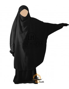 "Jilbab 2 pieces Classique ""jupe"" Umm Hafsa - Noir"