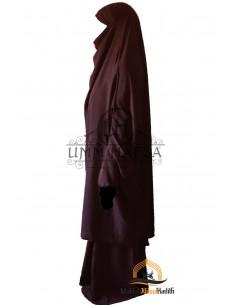 "Jilbab 2 pieces Classique ""jupe"" Umm Hafsa - Prune"