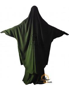 """Jilbab 2 pieces Classique """"jupe"""" Umm Hafsa - Vert Kaki"""