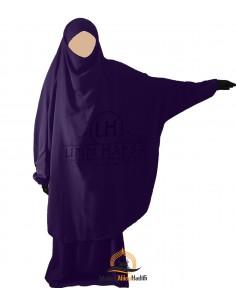 """Jilbab 2 pieces Classique """"jupe"""" Umm Hafsa - Aubergine"""