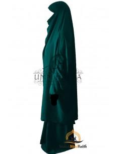 """Jilbab 2 pieces Classique """"jupe"""" Umm Hafsa -  Vert canard"""