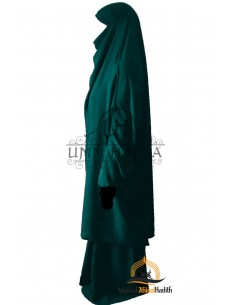 "Two Piece Jilbab Classic ""Skirt"" Umm Hafsa - Green Duck"