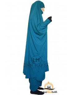 "Zweiteilige Jilbab Snap Buttons ""Sirwel"" Umm Hafsa- Green Duck"