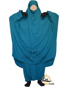 "Two Piece Jilbab Classique ""Sirwel"" Umm Hafsa - Green Duck"
