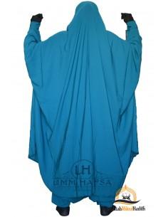 "Jilbab deux pieces à Zip ""Sarouel"" Umm Hafsa- Vert canard"