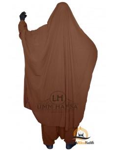 """Jilbab deux pieces Classique """"Sarouel"""" Umm Hafsa- Cannelle"""