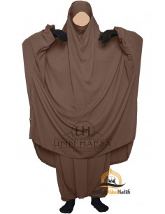 "Two Piece Jilbab Classique ""Sirwel"" Umm Hafsa - Brown"