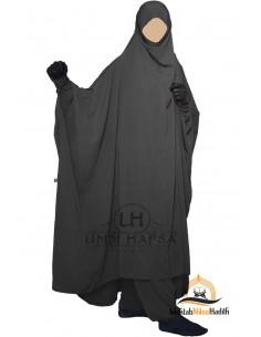 """Jilbab deux pieces à Zip """"Sarouel"""" Umm Hafsa- Noir"""