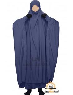 """Zweiteilige Jilbab Zip """"Sirwel"""" Umm Hafsa- blau"""