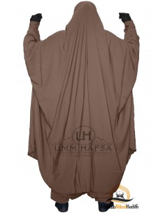 "Two Piece Jilbab Zip ""Sirwel"" Umm Hafsa - Brown"