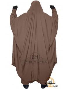 """Zweiteilige Jilbab Zip """"Sirwel"""" Umm Hafsa- braun"""