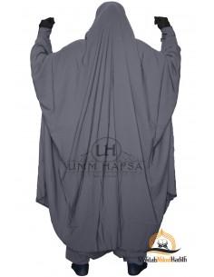 """Zweiteilige Jilbab Zip """"Sirwel"""" Umm Hafsa- grau"""