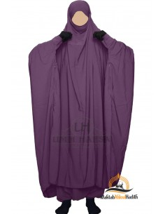 "Two Piece Jilbab Zip ""Sirwel"" Umm Hafsa - Plum"