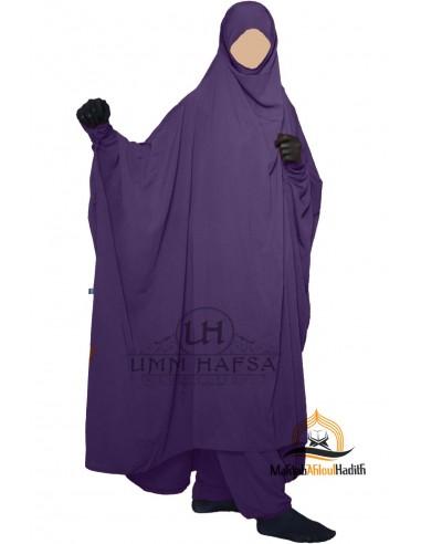 zweiteilige jilbab zip sirwel umm hafsa aubergine farbe. Black Bedroom Furniture Sets. Home Design Ideas