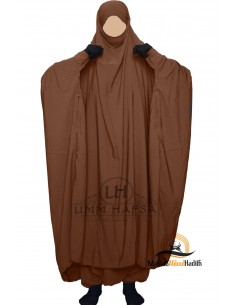 "Two Piece Jilbab Zip ""Sirwel"" Umm Hafsa - Cinnamon"