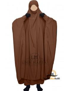 "Zweiteilige Jilbab Zip ""Sirwel"" Umm Hafsa- Cinnamon"