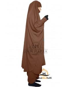 """Zweiteilige Jilbab Snap Buttons """"Sirwel"""" Umm Hafsa- Cinnamon"""