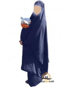 """Jilbab de maternage/portage """"jupe"""" Umm Hafsa - Bleu marine"""
