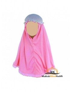 Hijab fillette - Rose bonbon