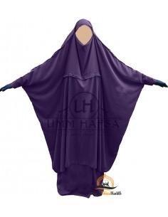 "Jilbab de maternage/portage ""jupe"" Umm Hafsa - Aubergine"
