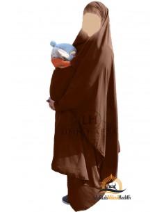 """Jilbab de maternage/portage """"jupe"""" Umm Hafsa - Cannelle"""