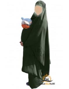 "Jilbab de maternage/portage ""jupe"" Umm Hafsa - Kaki"