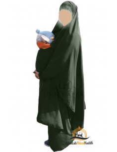 "Maternity/porterage Jilbab ""Skirt"" Umm Hafsa - Green"