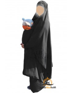 "Jilbab de maternage/portage ""jupe"" Umm Hafsa - Noir"