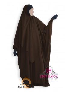 Abaya/Hijab Lycra Umm Hafsa - Brown
