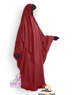 Abaya/Hijab Lycra Umm Hafsa - Burgundy