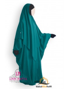 Abaya/Hijab Lycra Umm Hafsa - Green Duck