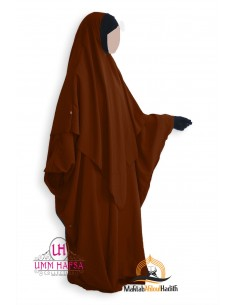 Abaya/Hijab Lycra Umm Hafsa - Cinnamon