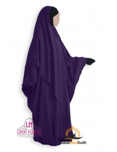Abaya/Hijab Lycra Umm Hafsa - aubergine farbe